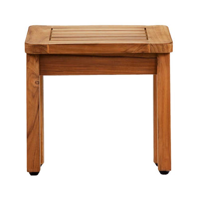 Brooke Shower Stool Teak Front View