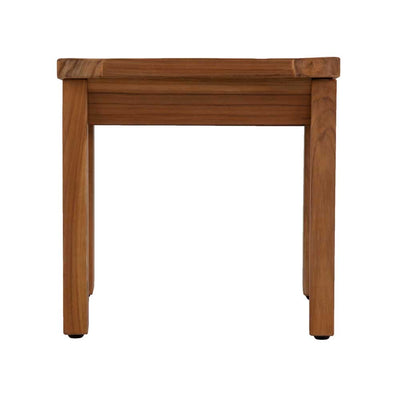 Brooke Shower Stool Teak Side View