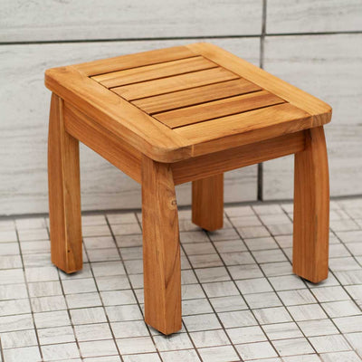 Brooke Shower Stool Teak