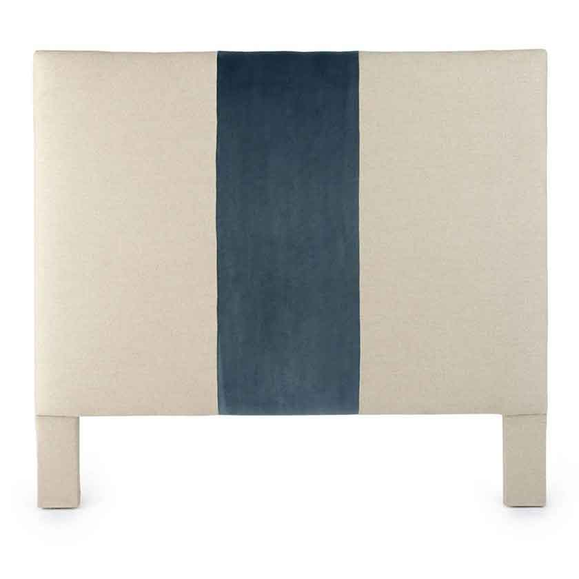 Gordon Upholstered Headboard iwth linen fabric from Square Feathers