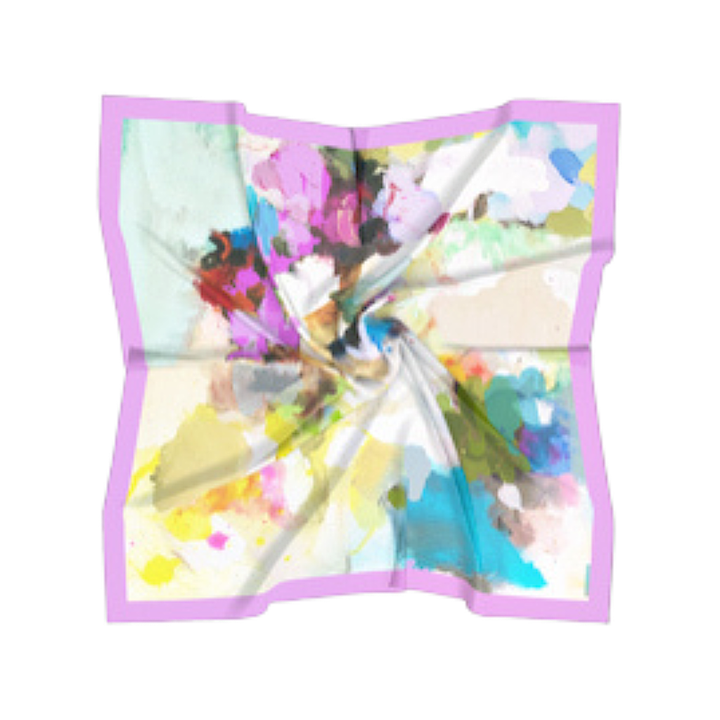 Sunset Blvd Silk Scarf in a variety of vivid colors from Laura Park Designs