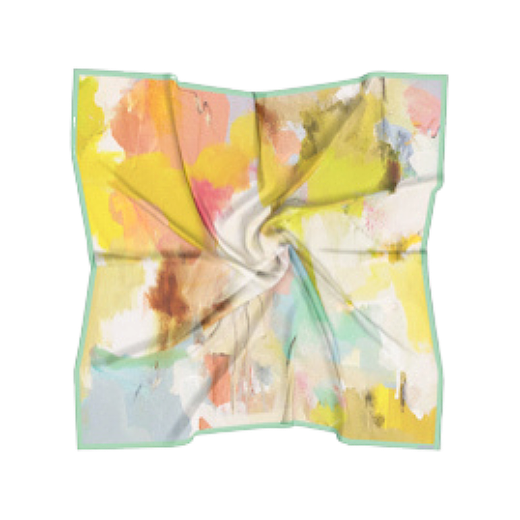 Coral Bay Orange Silk Scarf in a variety of vivid colors from Laura Park Design