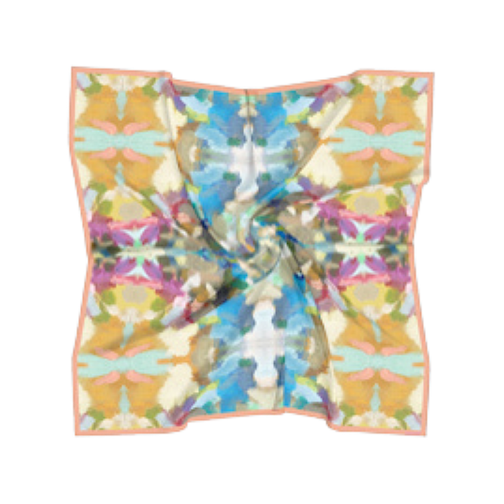 Indigo Girl Blue silk scarf in a variety of vivid colors from Laura Park Designs