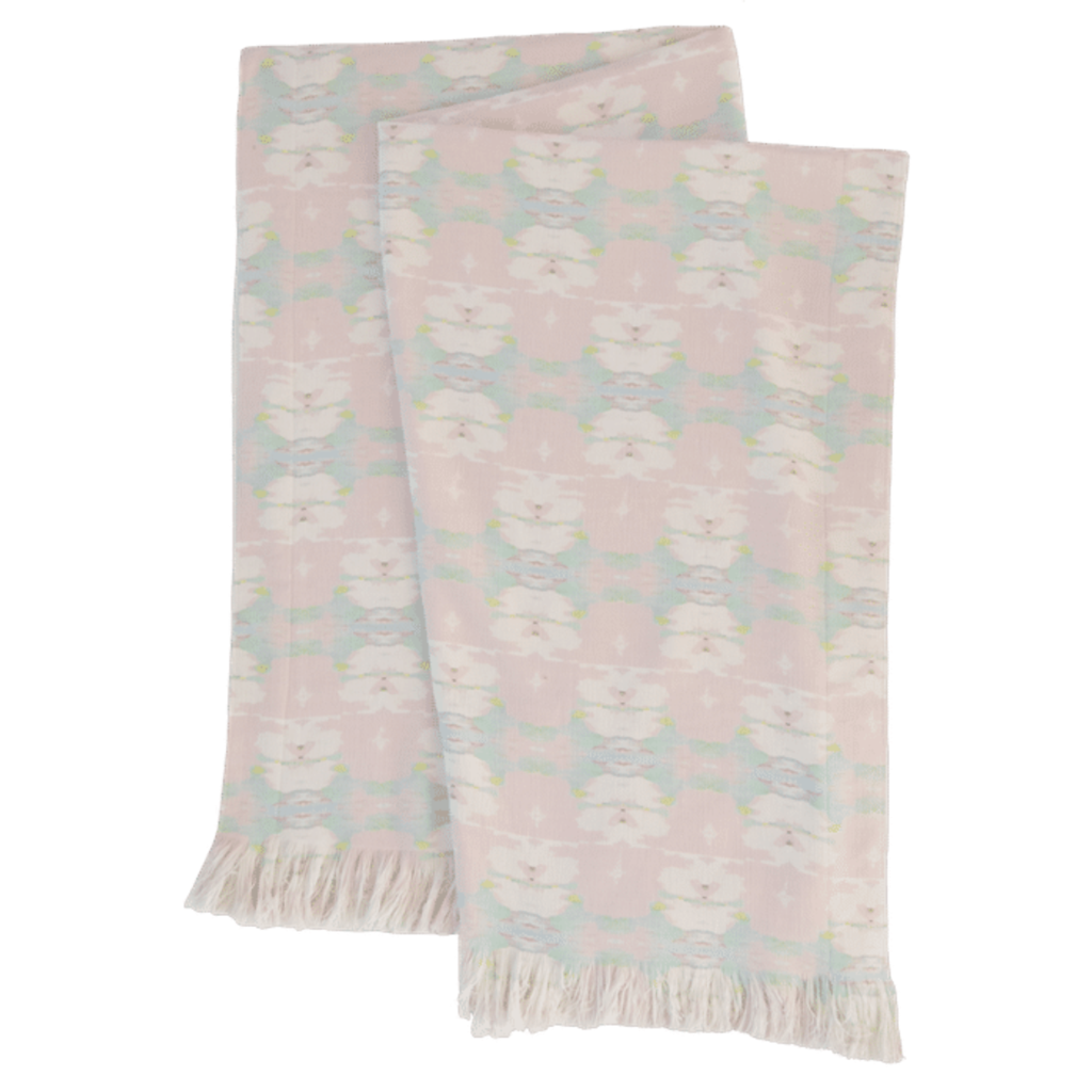 Butterfly Garden Blush Throw Blanket in soft pinks and blues from Laura Park Designs