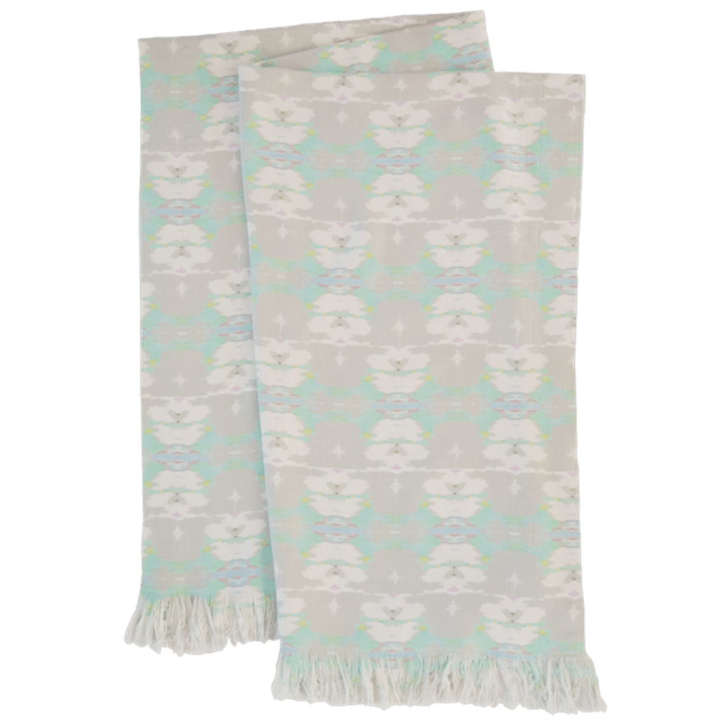 Butterfly Garden Stone Throw Blanket in soft blue-grey from Laura Park Designs