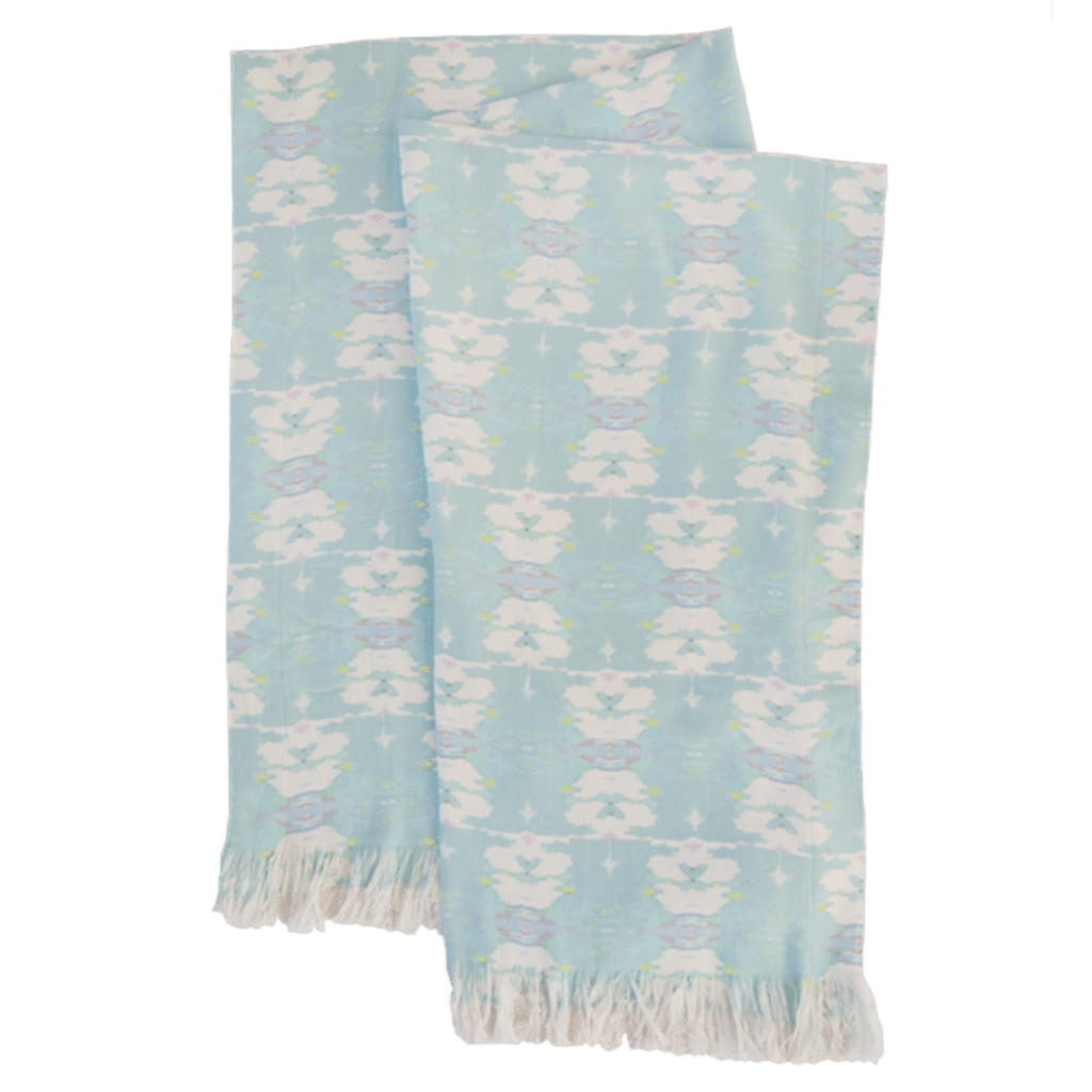 Butterfly Garden Sky throw blanket in soft blues from Laura Park Designs