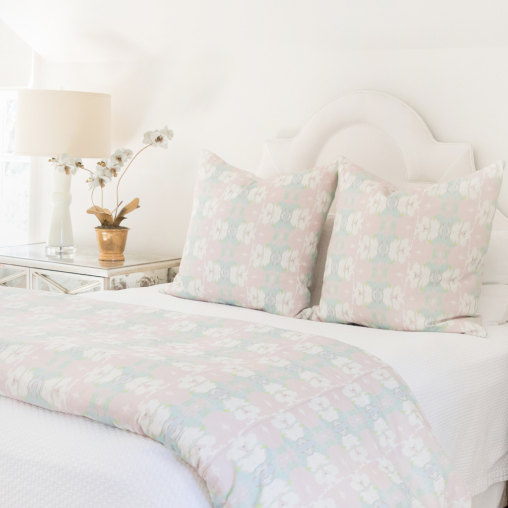 Butterfly Garden Blush Duvet Cover from Laura Park Designs