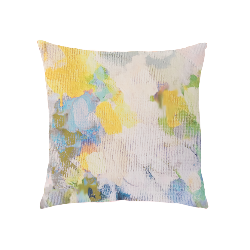Butterlfy Garden Sunbrella® fabric square pillow from Laura Park Designs