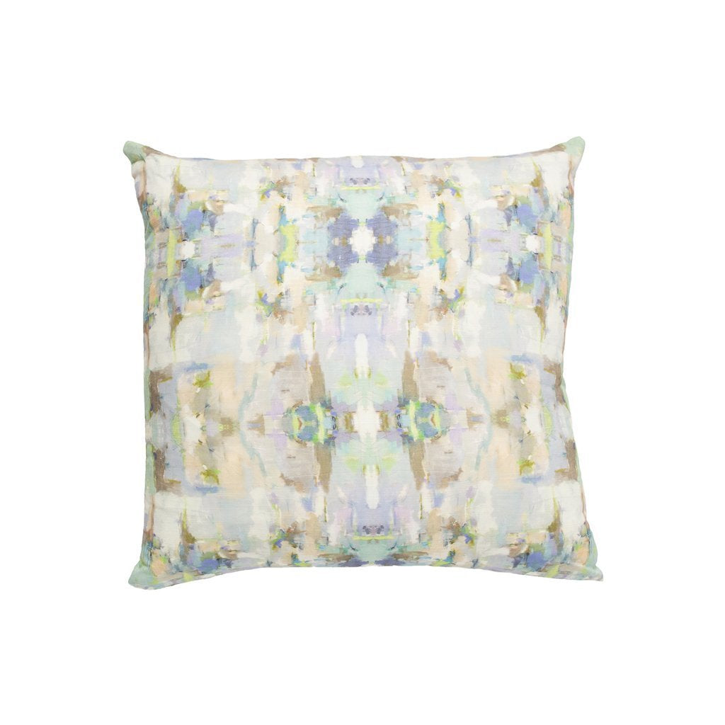 Sea Glass Sunbrella® fabric square pillow from Laura Park Designs