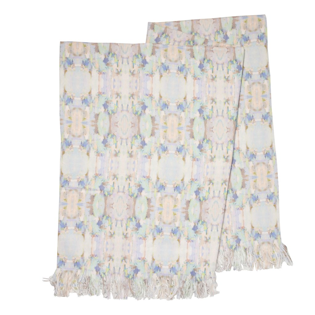 Sea Glass Throw Blanket in soft blues and pinks from Laura Park Designs