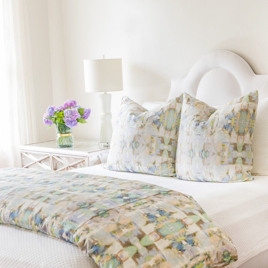 Sea Glass duvet cover in a variety of soft colors from Laura Park Designs