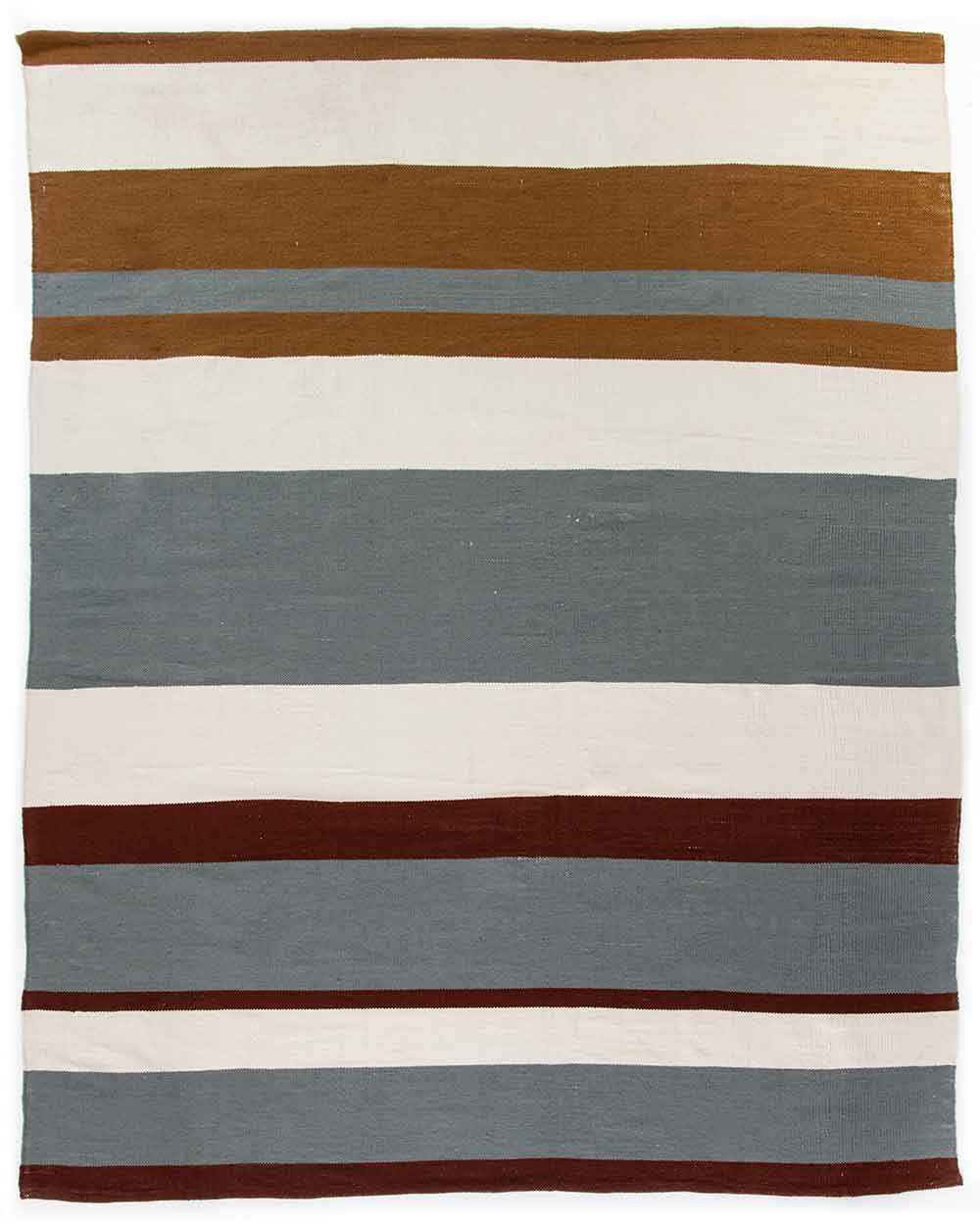 Senna Grey Outdoor Rug maroon and umber stripes Four Hands product image