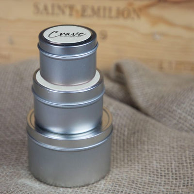 Crave Candles 2 oz. travel tin stack