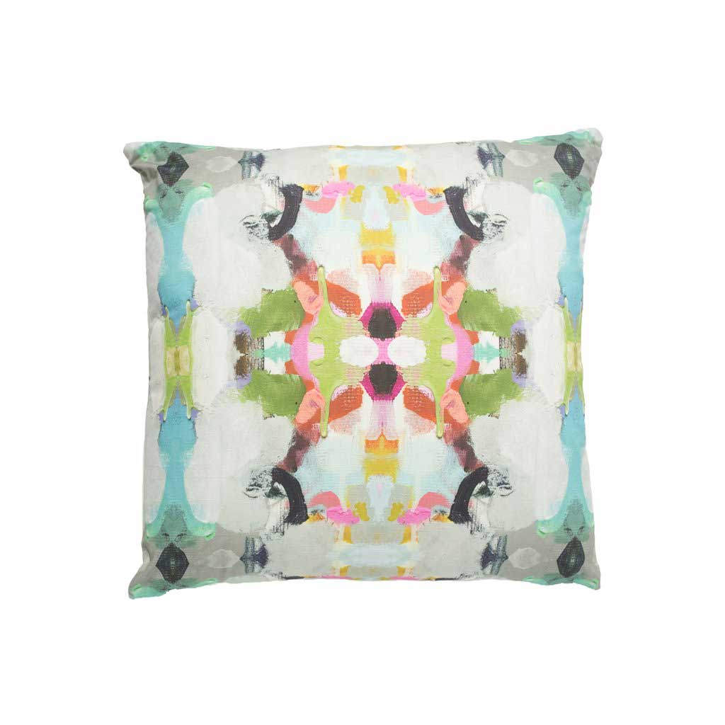 Summer Garden Red Outdoor Pillow Square Laura Park Designs