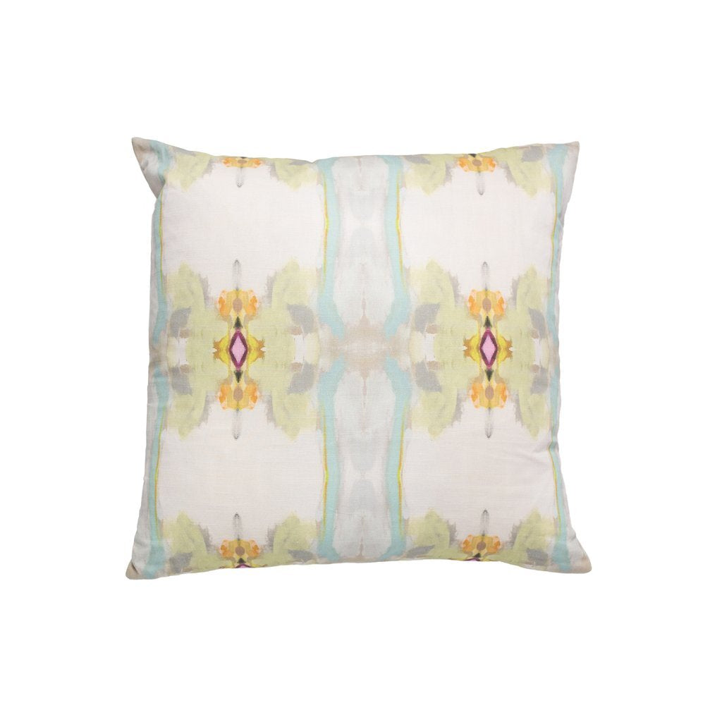 Sundance White Outdoor Pillow Square Laura Park Designs