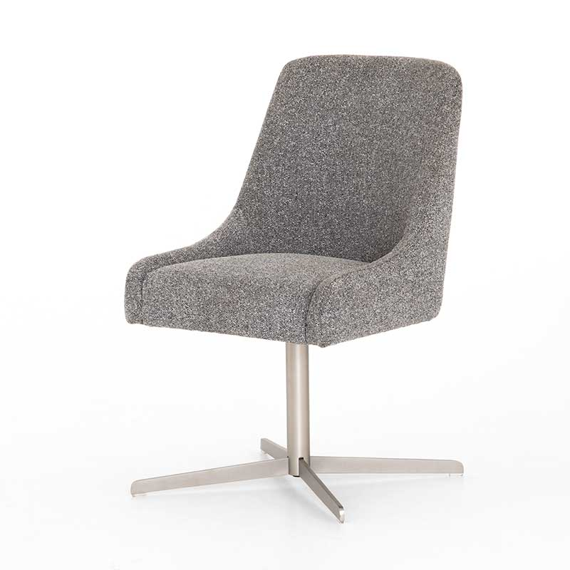 Tatum Desk Chair with swivel in Bristol Charcoal from Four Hands