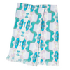Flower Child Emerald throw blanket in blues and greens from Laura Park Designs