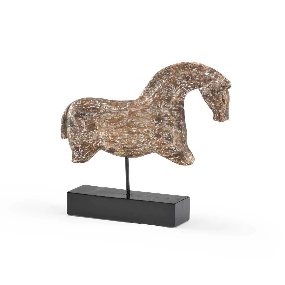 Footless Horse Sculpture Wildwood Home Hand-Carved