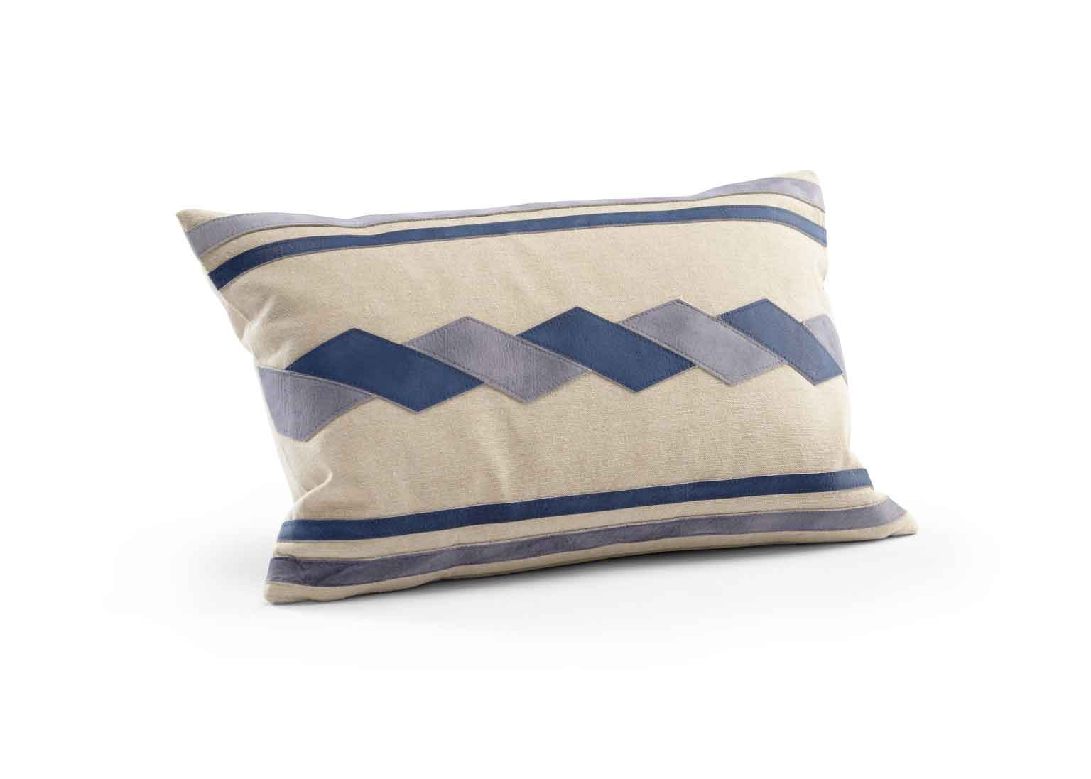 Santa Clara Pillow Blue and Grey Suede Wildwood