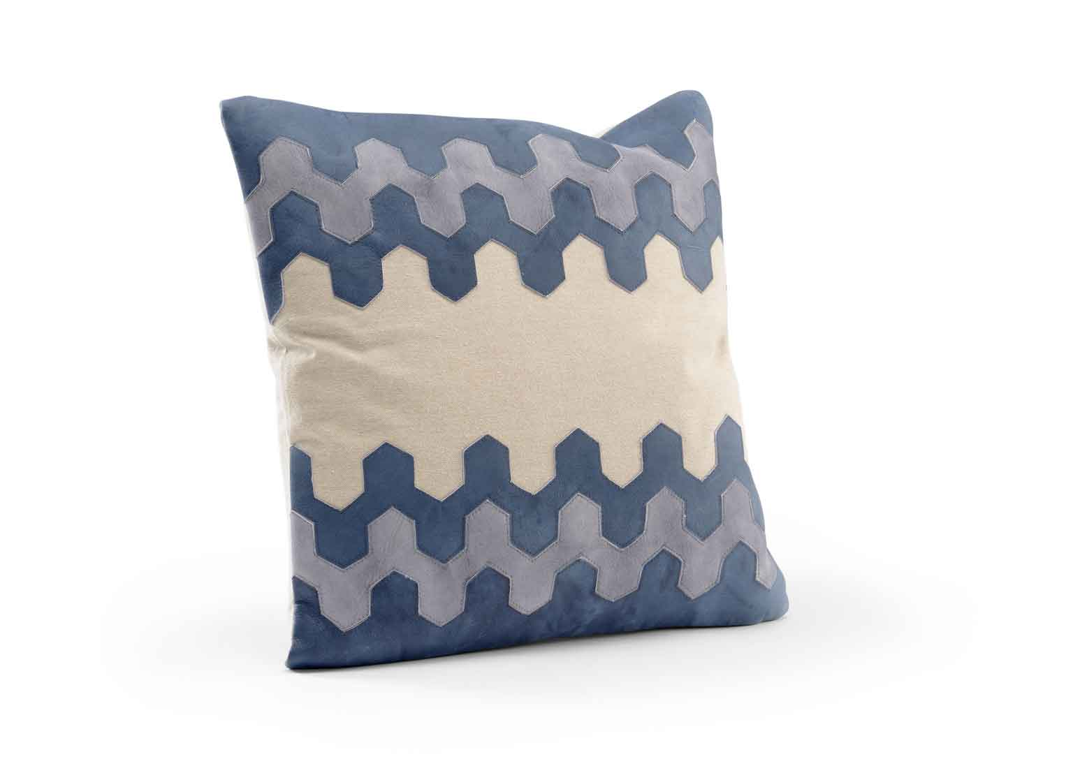Santa Fe Decorative Pillow Blue and Grey Wildwood