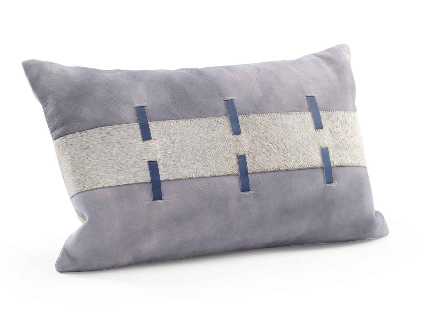 Acoma Pillow Suede Hair on Hide Grey Wildwood