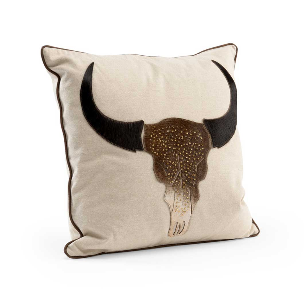 Longhorn Pillow Decor Accessory Main Image Wildwood