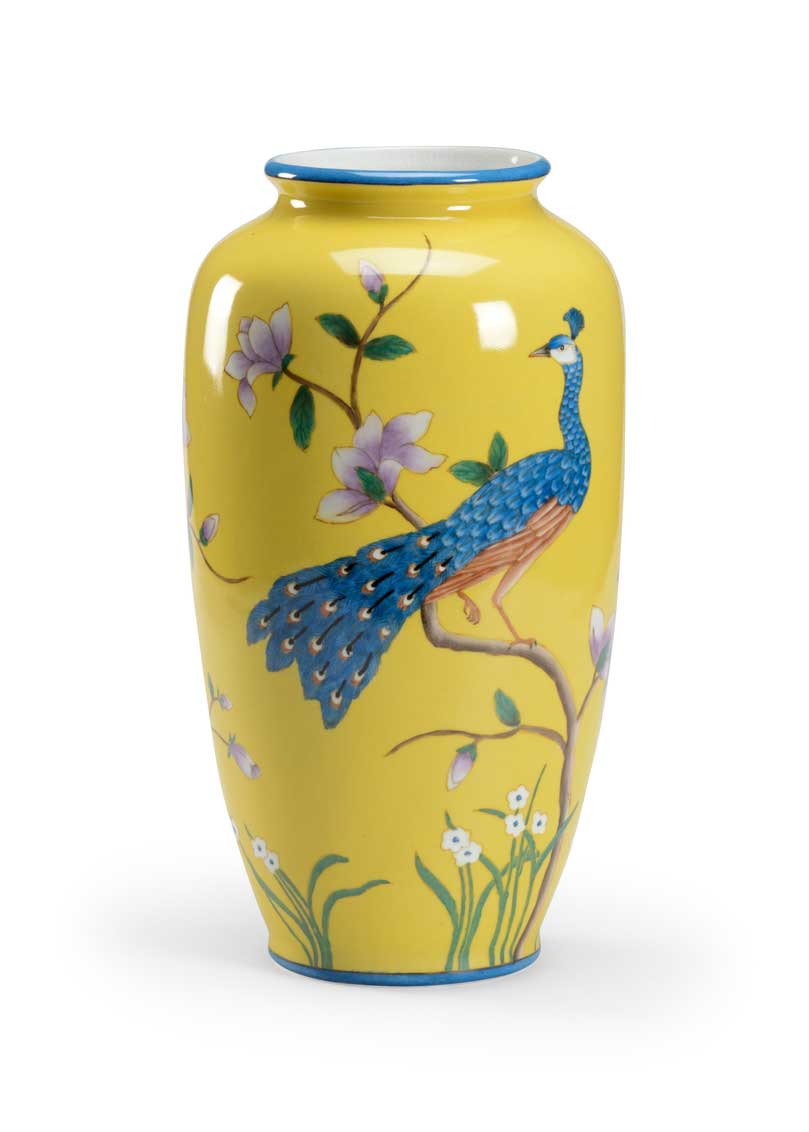 Pickney Peacock Vase from Wildwood Home