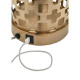 Deena Lamp Geometric Pattern Table Lamp Built-In USB Port Wildwood