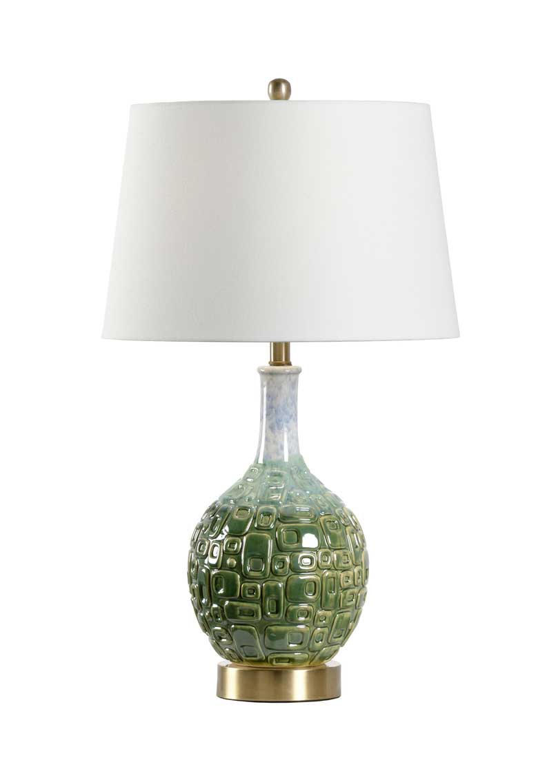 Betty Table Lamp is ceramic with green glaze from Wildwood Home
