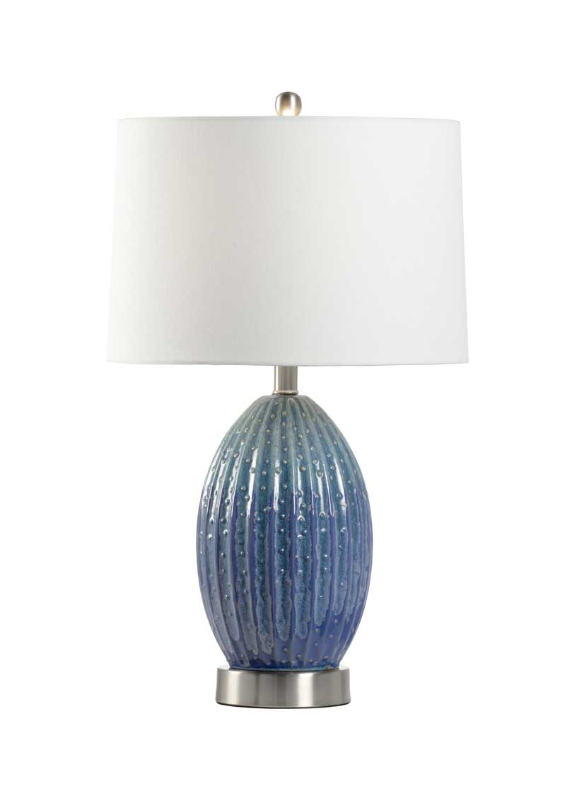 Maui Table Lamp Blue and Green Glaze Product Image Wildwood
