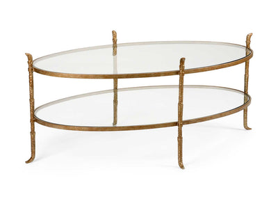 Carley Cocktail Table Metal and Glass Wildwood Home