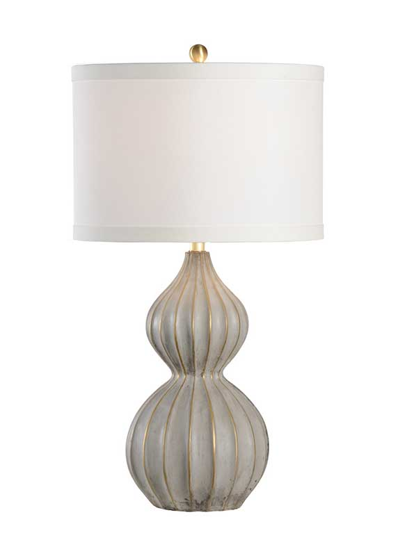 Delphine table lamp with modern style fluted gourd composite base from Wildwood