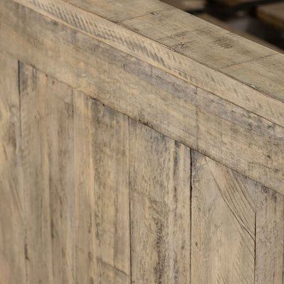 Wallace King Bed reclaimed pine in weathered ash Four Hands wood texture