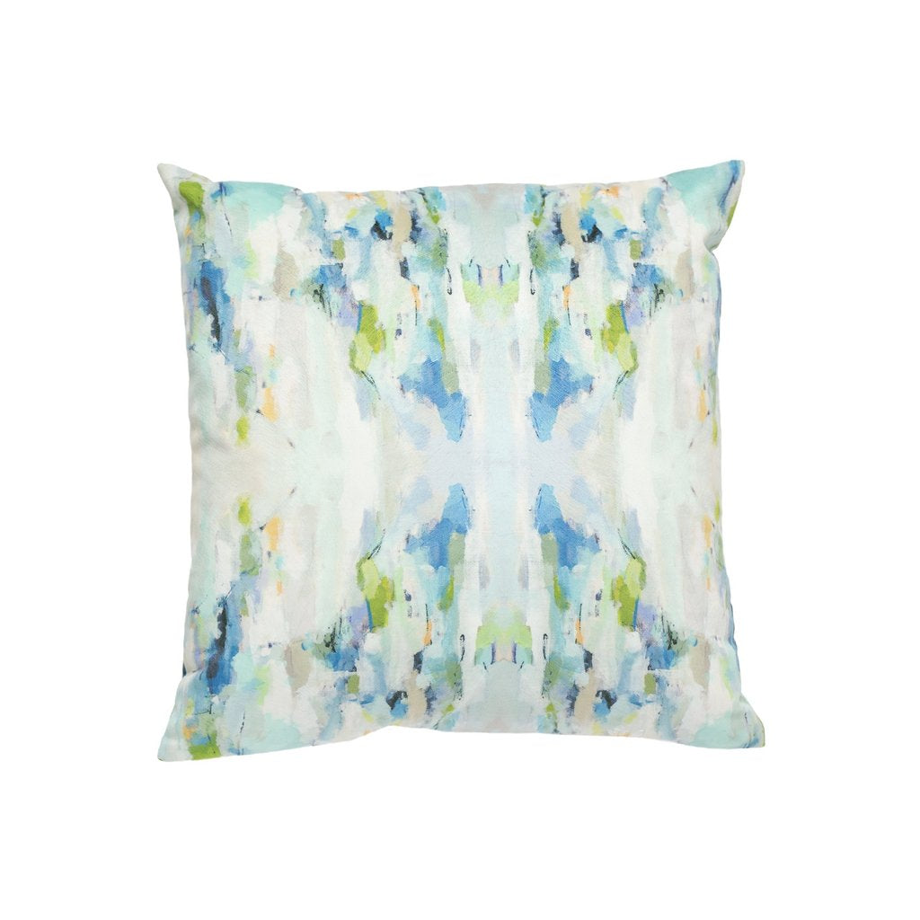 Wintergreen Sunbrella® fabric square pillow from Laura Park Designs