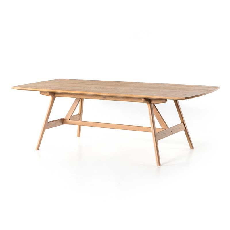 Yara Dining Table in burnished oak from Four Hands