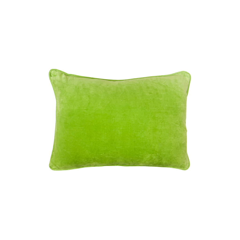 Apple Green Velvet Pillow from Laura Park Designs, lumbar