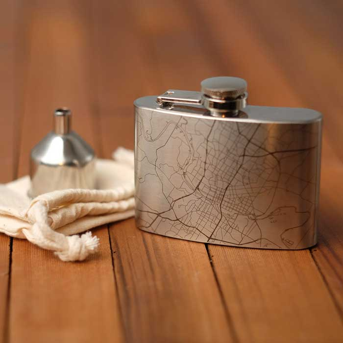 Grooms Man Gift Hip Flask 4 oz.