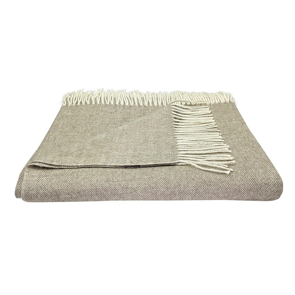 Herringbone Baby Alpaca Throw