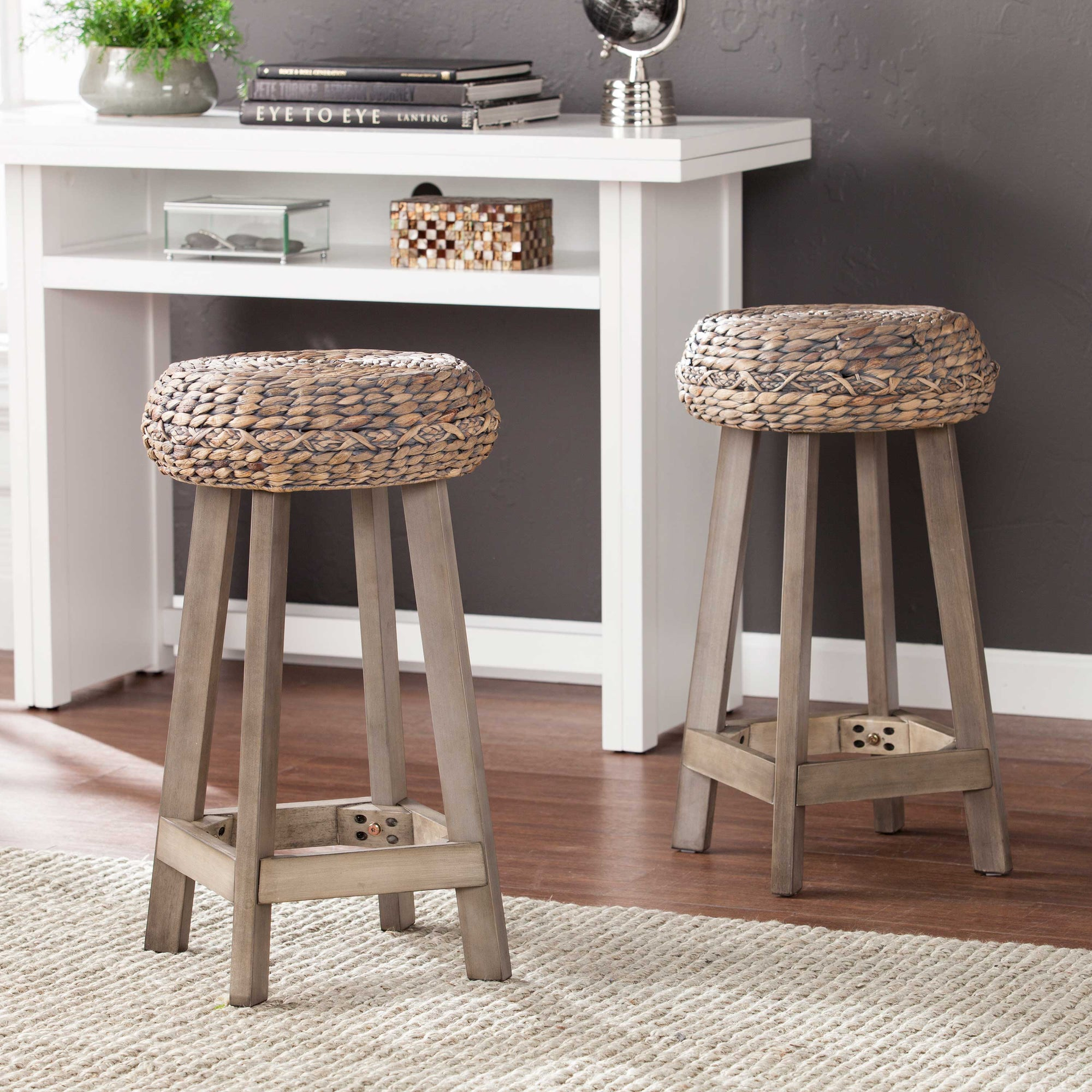 Rutina Backless Round Stools - 2pc Set
