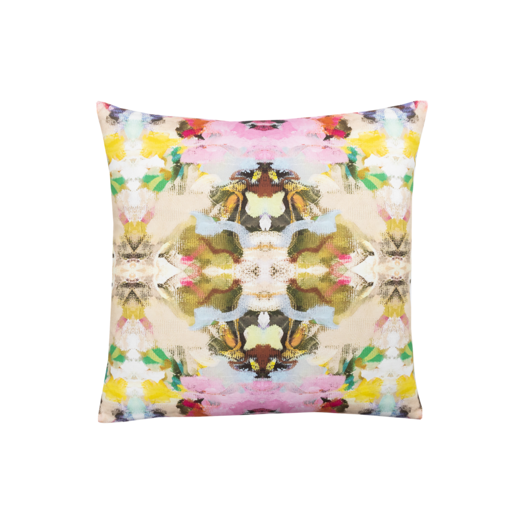Birds of a Feather linen pillow from Laura Park Designs soft multi-color
