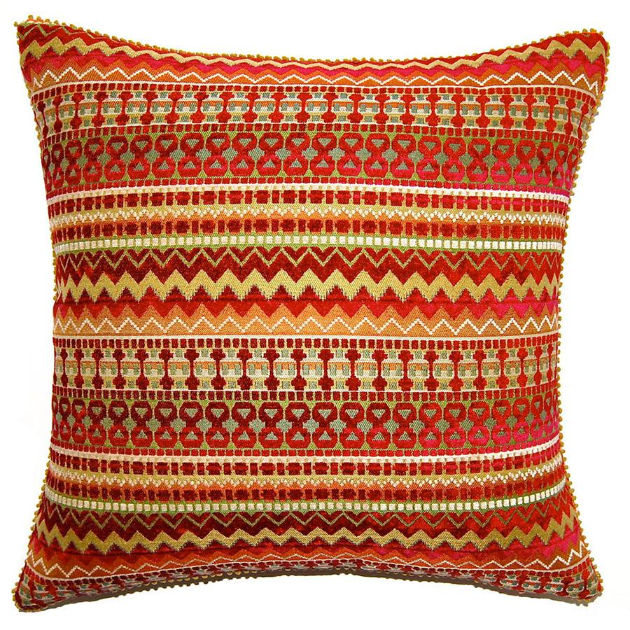Circus Zig Zag throw pillow is vibrant in color and design and captivates your attention