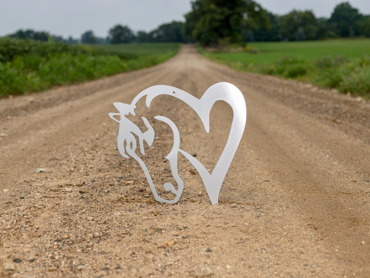 Horse Heart Metal Sign