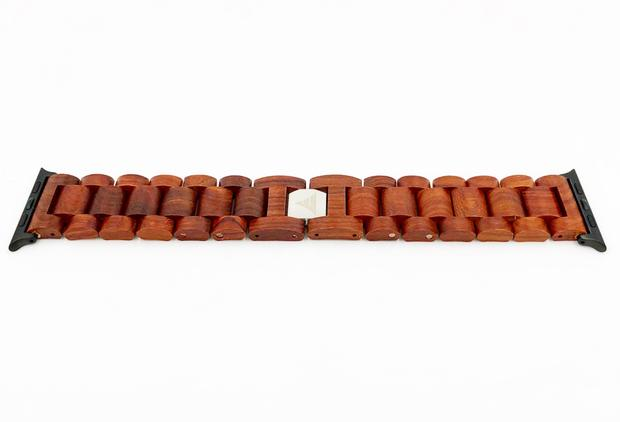 Apple Watch Strap in Red Sandalwood wood watch band from Everwood
