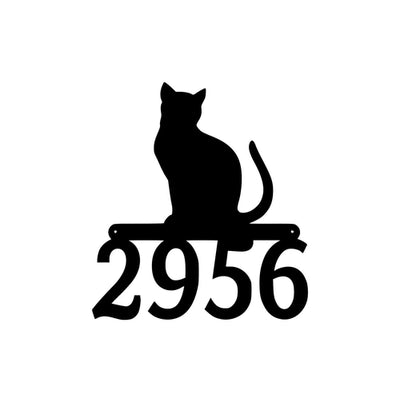 Cat Address Metal Sign