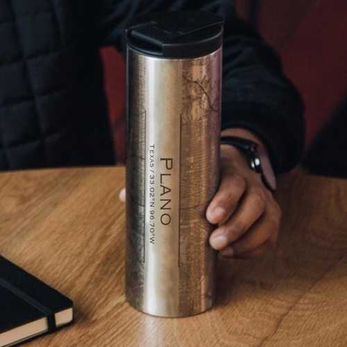 Engraved Map Tumbler - Plano