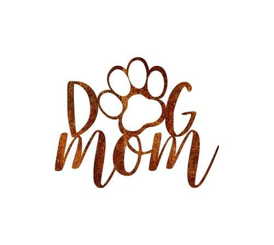 Dog Mom Metal Wall Art