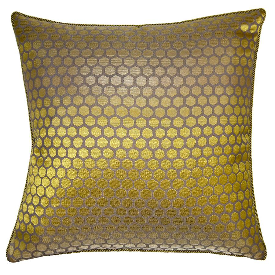 Verde Honeycomb throw pillow adds sweet relaxation with its honeycomb pattern from Square Feathers