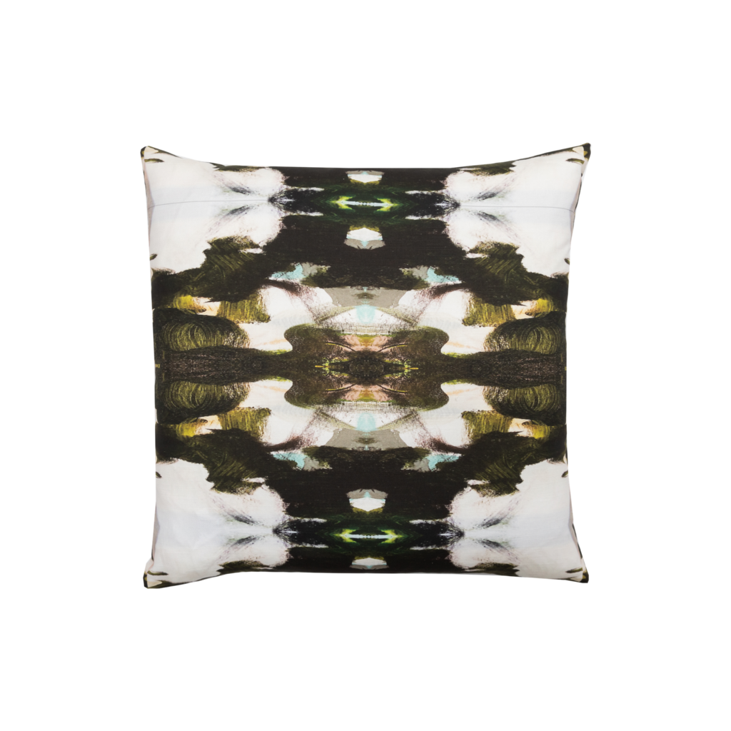 Zanzibar Linen Cotton Pillow from Laura Park Designs in contrasting colors, square