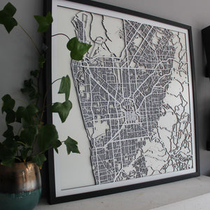 Adelaide Street Carving Map (Sold Out)