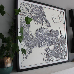 Auckland Street Carving Map (Sold Out)